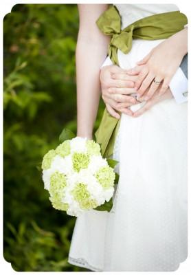 bröllopsfoto, detalj, brudbukett, grön, bröllop